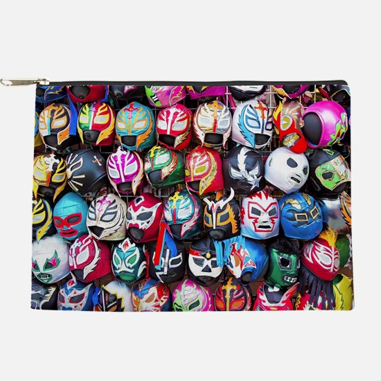Mexican Wrestling Masks Makeup Pouch