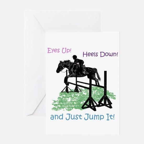 Fun Hunter/Jumper Equestrian Horse Greeting Cards