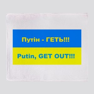 Putin - Get Out Throw Blanket