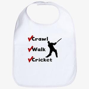 Crawl Walk Cricket Bib