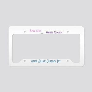Fun Hunter/Jumper Equestrian License Plate Holder