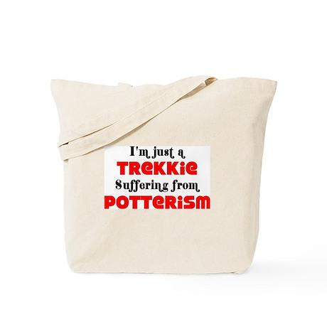 """I'm just a..."" Trekkie/Potterism Tote Bag"