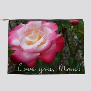 Love you Mom Rose Makeup Pouch