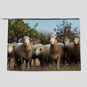 polled Dorset Ewes-Oranges Makeup Pouch