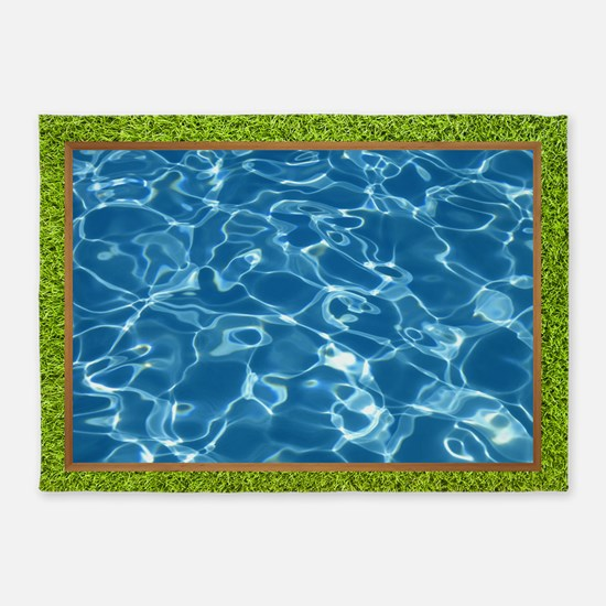 Inground Pool 5'x7'area Rug