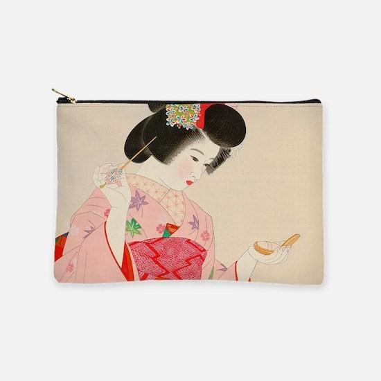 Vintage Japanese Geisha Lady Woman Gi Makeup Pouch
