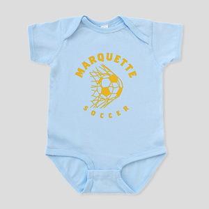 Marquette Golden Eagles Soccer Baby Light Bodysuit