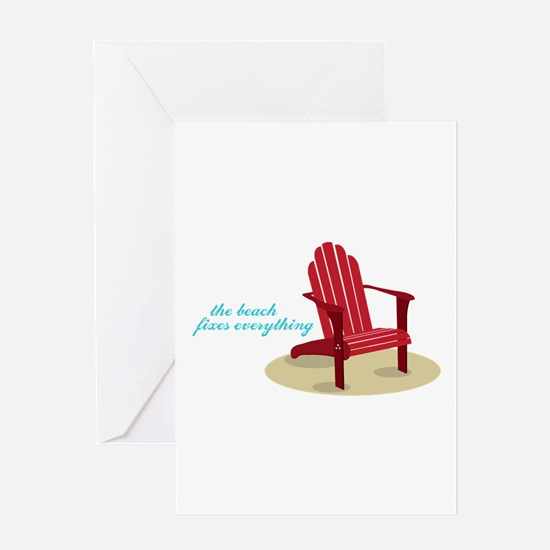 Beach Fixes Everything Greeting Cards