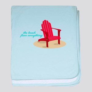 Beach Fixes Everything baby blanket