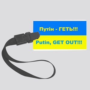 Putin - Get Out Large Luggage Tag