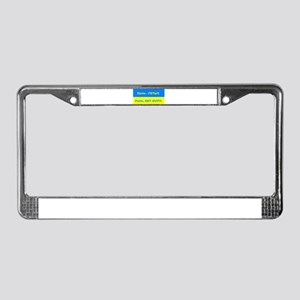 Putin - Get Out License Plate Frame