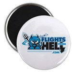 "Flights From Hell 2.25"" Magnet"