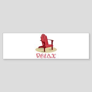 Relax Bumper Sticker