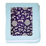 Abstract Whimsical Flowers baby blanket