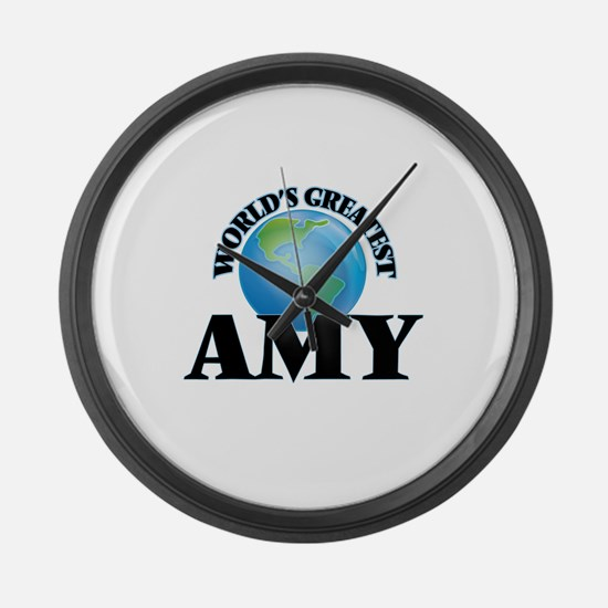 World's Greatest Amy Large Wall Clock