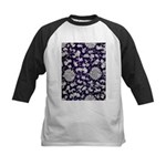 Abstract Whimsical Flowers Baseball Jersey
