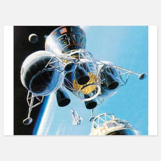 lunar landing Invitations