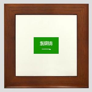 saudi arabia flag Framed Tile