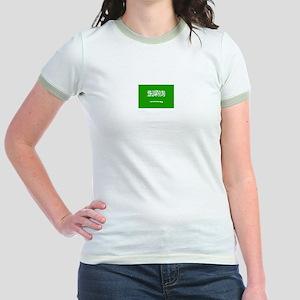 saudi arabia flag Jr. Ringer T-Shirt