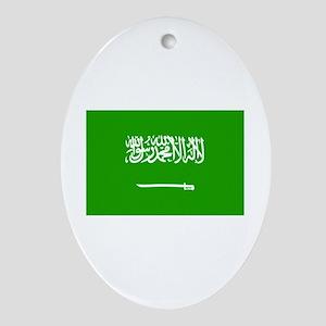 saudi arabia flag Oval Ornament
