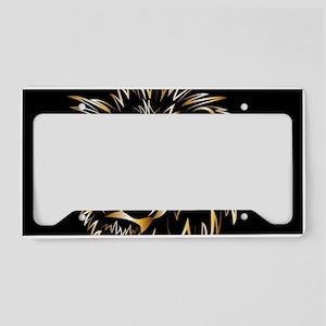 Golden lion License Plate Holder