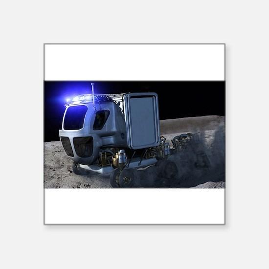 """lunar rover Square Sticker 3"""" x 3"""""""