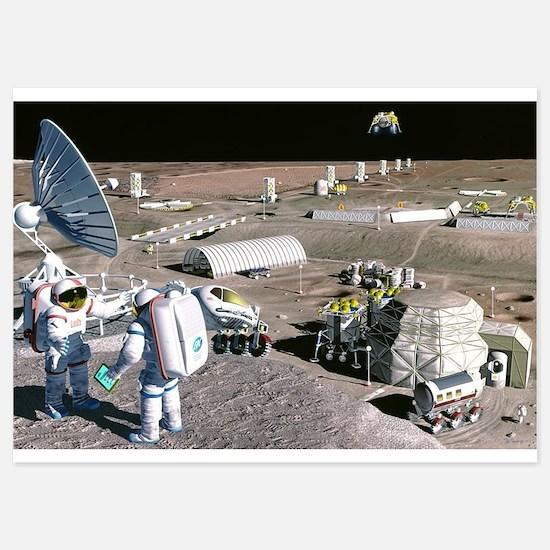 moon colony Invitations