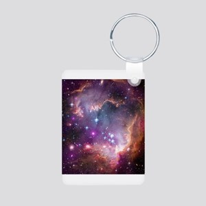 nebula Aluminum Photo Keychain