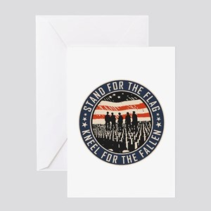 Stand For The Flag Greeting Cards