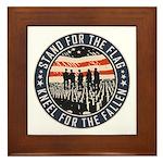 Stand For The Flag Framed Tile