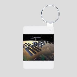 iss Aluminum Photo Keychain