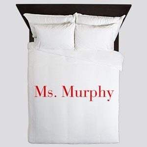 Ms Murphy-bod red Queen Duvet