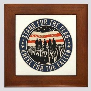 Stand For The Flag Framed Tile