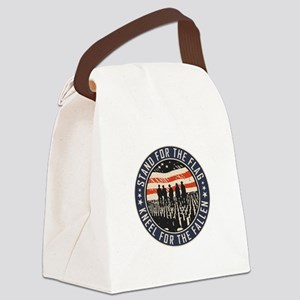 Stand For The Flag Canvas Lunch Bag