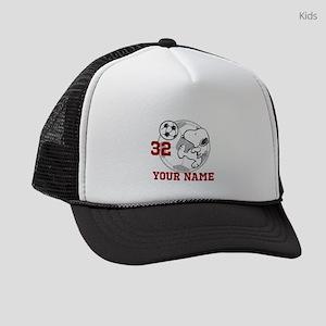 Snoopy Soccer Personalized Kids Trucker hat