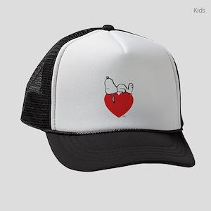 Snoopy on Heart Kids Trucker hat
