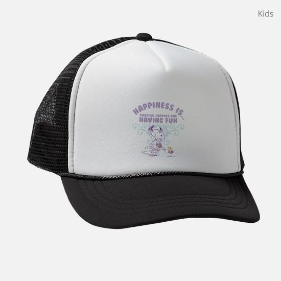 Dancing, Hopping and Having Fun Kids Trucker hat