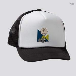 Charlie Brown Sitting Kids Trucker hat
