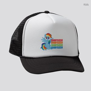 MLP Rainbow Dash OMG Dark Kids Trucker hat