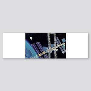 space station freedom Sticker (Bumper)