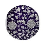 Abstract Whimsical Flowers Round Ornament