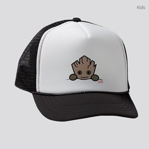 Groot Peeking Kids Trucker hat