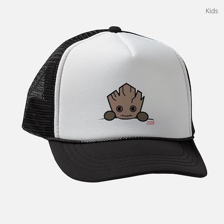 Groot Peeking Kids Trucker Hat