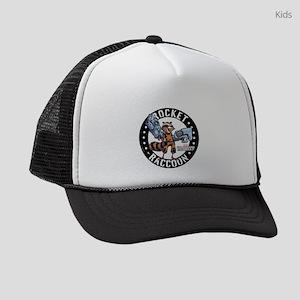 GOTG Comic Rocket Guns Light Kids Trucker hat