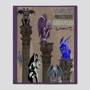 Gargoyles Throw Blanket