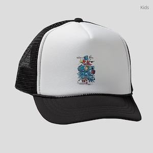GOTG Rocket Drawing Kids Trucker hat