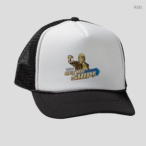 GOTG_StarLord-GetMyShip Kids Trucker hat