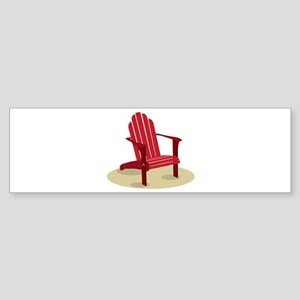 Red Beach Chair Bumper Sticker