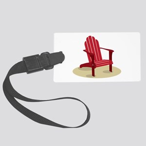 Red Beach Chair Luggage Tag