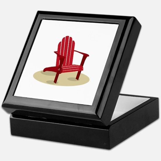 Red Beach Chair Keepsake Box